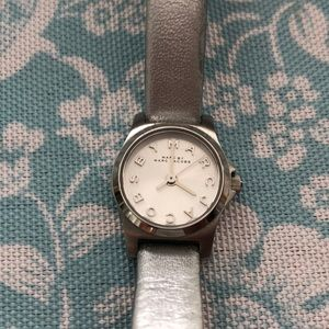 Marc by Marc Jacobs Watch w/ Silver Leather Strap